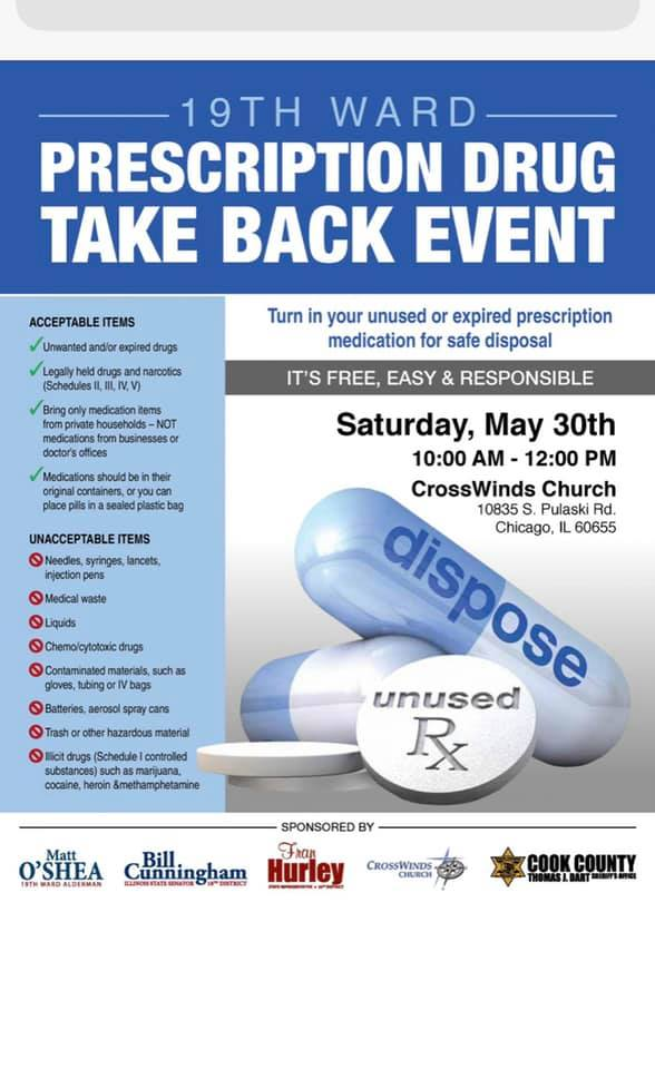 Drug takeback event 5.30.20